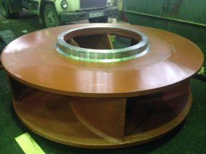 Восстановленное рабочее колесо центробежного насоса