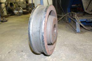 Наплавка кранового колеса