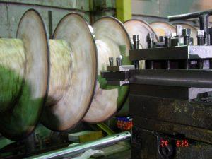 Механическая обработка винтовой плоскости шнекового транспортера
